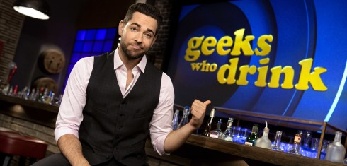 GEEKS WHO DRINK -- Season:1 -- Pictured: Zachary Levy -- (Photo by: Jaimie Trueblood/Syfy)